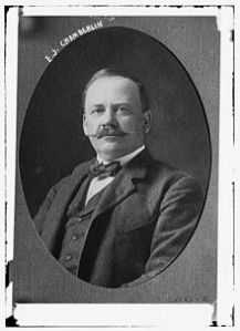 Edson Joseph Chamberlin, President of the Grand Trunk Pacific Railway.  He took over from Charles Melville Hays who died in the RMS Titanic. disaster